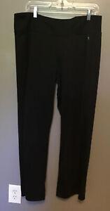 Womens Black Workout Pants Danskin Now Sz XL Petite (16P-18P) Semi-Fitted