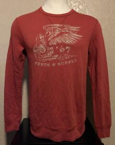 NEW Denim & Supply Ralph Lauren Size Medium Red Wings Crew Neck Sweatshirt M
