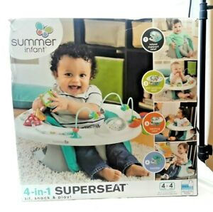 Summer Infant 4-In-1 Super Seat Teal, Support- Activity- Feeding- Booster USA