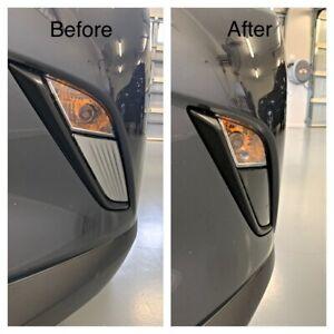 Fits Mazda Cx3 Front Fog Light Reflector Cover Delete Black Out Kit Gloss Black