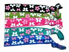 Ponytail Hair Band FLOWERS, Girl's Accessories, Hair Accessories (Set of 5)