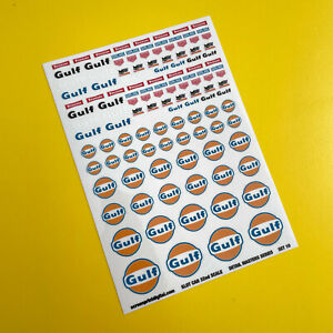 SLOT CAR 1/32nd scale Detail Masters 'Vintage Classic Race Rally' stickers SET10