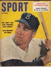 Sport Magazine - Sept 1957 - Duke Snider on Cover - Joe DiMaggio Article - Ex