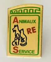 Animaux Service Cat Dog Advertising Lapel Pin Badge Vintage (C10)