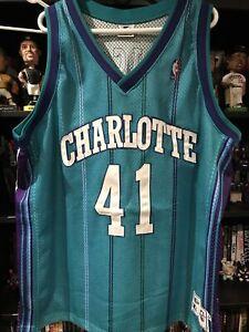 Athentic Starter Charlotte Hornets Glen Rice Jersey Size 54