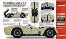 1959/1960/1961 Maserati Birdcage 61 Spec Sheet/Brochure