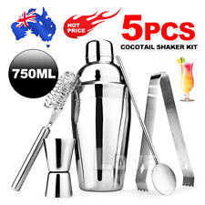 Stainless Steel Vintage Boston Cocktail Shaker Set Kit 750ml Jigger Mixer Bar AU