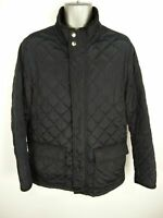 MENS JOHN LEWIS NAVY BLUE ZIP/BUTTON UP FLEECE LINED QUILTED JACKET COAT L LARGE