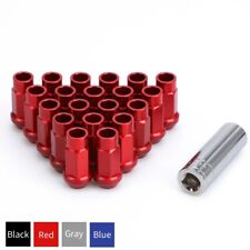 20pc Red Extended Wheel Lug Nuts Kit M12x1.5 Cone Seat for Honda Civic Accord