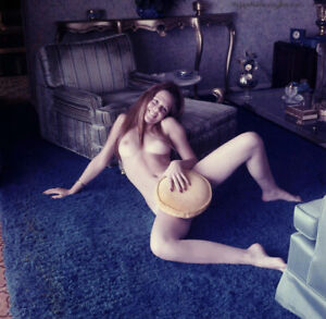 1970s Bunny Yeager Color Camera Transparency Pretty Hippie Era Smiling Nude NR!