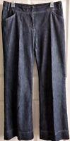 J.Jill Genuine Fit-Below Waist Denim Jeans Wide Leg Size 10