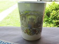 PALISSY ENGLAND TUMBLER 1910 SILVER JUBILEE HM QUEEN MARY HM KING GEORGE V