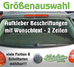 2. Zeilen Aufkleber Beschriftung 30-180cm Werbung Sticker Werbebeschriftung Auto