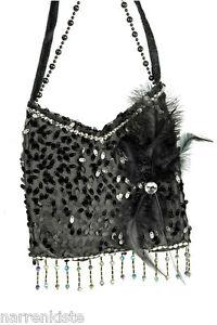20er 30er Jahre Flapper Charleston Tasche Charlestontasche Kleid Kostüm Fransen
