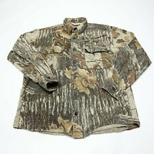 Walls Men's Medium Regular Realtree Camo Heavy Duty Button-Up Hunting Shirt