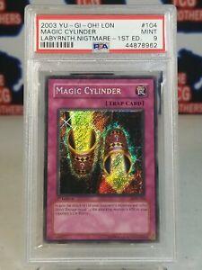 Magic Cylinder LON-104 1st Edition PSA 9 Mint Secret Rare 2003 Yugioh