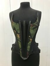 SDL Army Corset Clubwear Top  With Buckles Size Uk 12