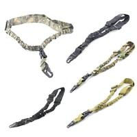 Tactical 1 Point Sling Adjustable Bungee Rifle Gun Sling with QD Buckle