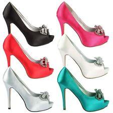 Stiletto Party Peep Toe Heels for Women