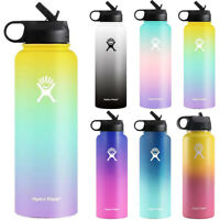 Gradient Space Cup Stainless Steel Insulated Mouth Lid Straw Water Drink Bottles