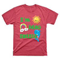 I'm Dead Inside Cheerful Dolphins and Sunshine Funny Men's Tee Cotton T-Shirt