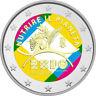 2 Euro Gedenkmünze Italien 2015 coloriert mit Farbe /  Farbmünze Expo Mailand