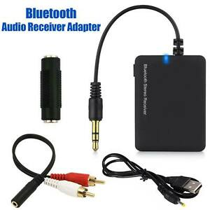 Bluetooth Wireless Stereo Audio Receiver 3.5MM Jack Joiner Adapter For Speakers