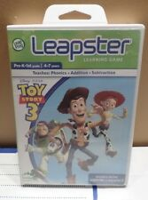 Toy Story 3 (Leapster & 2 ) NIP  Learning Game 4-7 yrs Prek -1st Disney Pixar