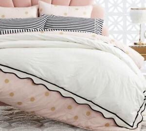Pottery Barn Teen Emily & Meritt Scalloped Twin Duvet Cover & Comforter Down