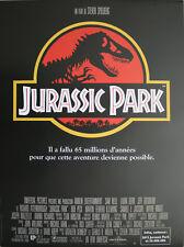 JURASSIC PARK Affiche Cinéma Originale ROULEE 53x40 Movie Poster SPIELBERG