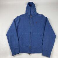 VTG Men's Polo Ralph Lauren Full Zip Hooded Jacket Size Medium Blue