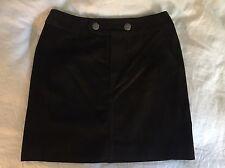 NWT Banana Republic Brown Suede Mini Skirt Sz 10