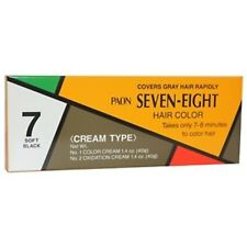 PAON Seven-Eight Hair Color  # 7 Soft Black  ,No Comb