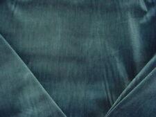 15 YARDS DECADENT KRAVET LEE JOFA BLUE GREEN STRIE VELVET UPHOLSTERY FABRIC