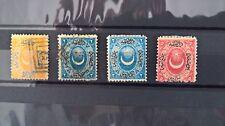 Turkey/Ottoman Emp 4 stamps Halfmoon Stars overprint set 1865 MH/Used very rare