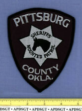 PITTSBURG COUNTY SHERIFF HORSE MOUNTED PATROL OKLAHOMA Police Patch