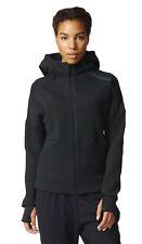 adidas Womens ZNE Hoody Long Sleeve Running Hoodie Tracksuit Track Top Black