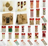 Handcrafted Christmas Craft Decorations - Handmade Card Embellishments