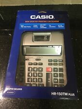 Brand New In Box Casio Large Display Calculator Adapter Included HR150TM plus