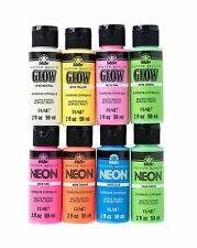 FolkArt Promofaglow8 Glow In The Dark and Neon Paint Set