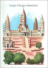 IMAGE CARD Temple d'Angkor Kmer site archéologique du Cambodge Cambodia Asia 60s