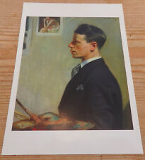 Self Portrait 1928 by W R Brealey Oil on Canvas Weston Park Museum Postcard