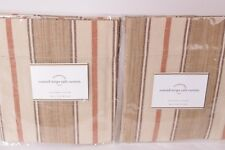 2 NIP Pottery Barn Conrad Stripe cafe curtain panels neutral 50x24 *qty avail