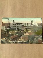 Postcard, Factory District Windsor Ontario Canada Hand Tinted Vintage P40