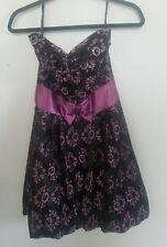 Gunne Sax Jessica McClintock Black And Purple with bow Semi Formal Dress Size 7