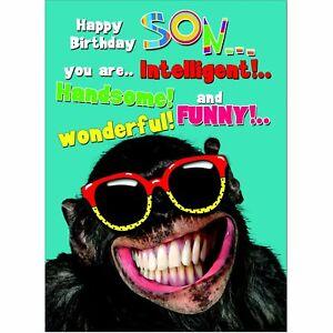 Doodlecards Funny Son Birthday Card - Medium