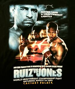 World Boxing Championship Fight Tee Shirt  RUIZ VS JONES VINTAGE 2003 New!