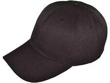 12 (1 dozen) New Black  Baseball /Golf Hats - Poly - Adjustable - Nice Quality
