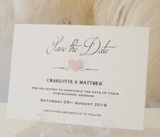 Glitter Heart Save The Dates Wedding Evening Invitations Table Plans