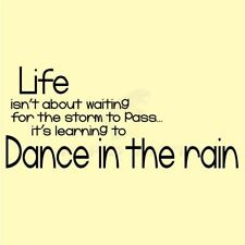 LIFE DANCE IN THE RAIN STORM Wall Decal Wall Sticker Home Life Wall Art Decal